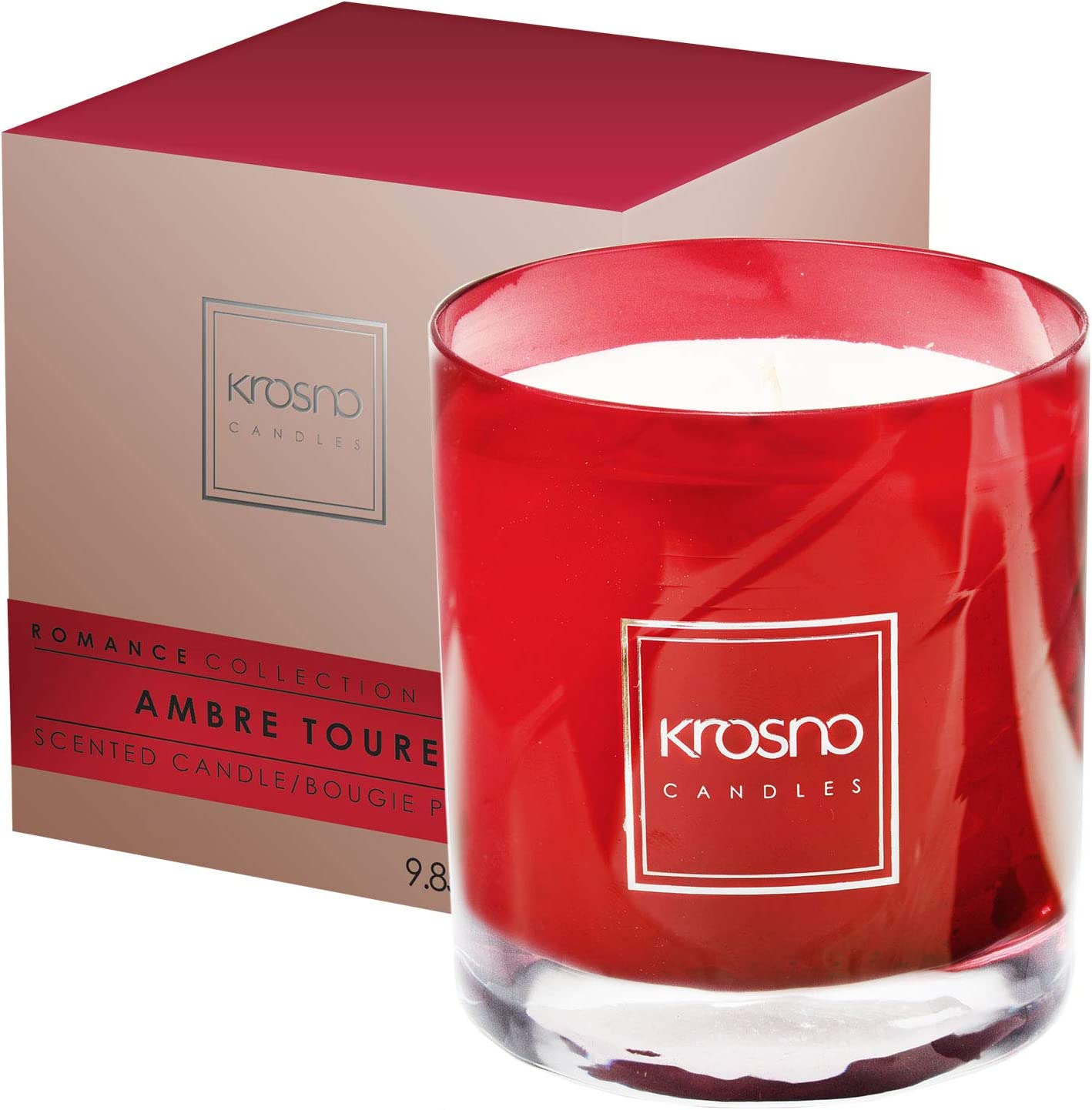 Dark Pomegranate scent Custom Soy Candle 40 hours burn time 30cl Glass Container
