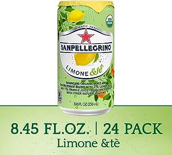 24-Pack Sanpellegrino Limone &te Sparkling Organic Juice 8.45 fl oz.