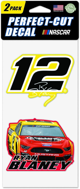 Multi WinCraft NASCAR Penske Racing Ryan Blaney NASCAR Ryan Blaney #12 Set of Two 4x4 Perfect Cut Decal na