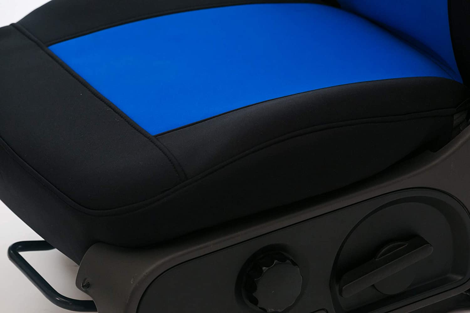 Saddleman S 199785-03 Blue//Black Custom Made Front Low Back Bucket with Airbag Seat Covers