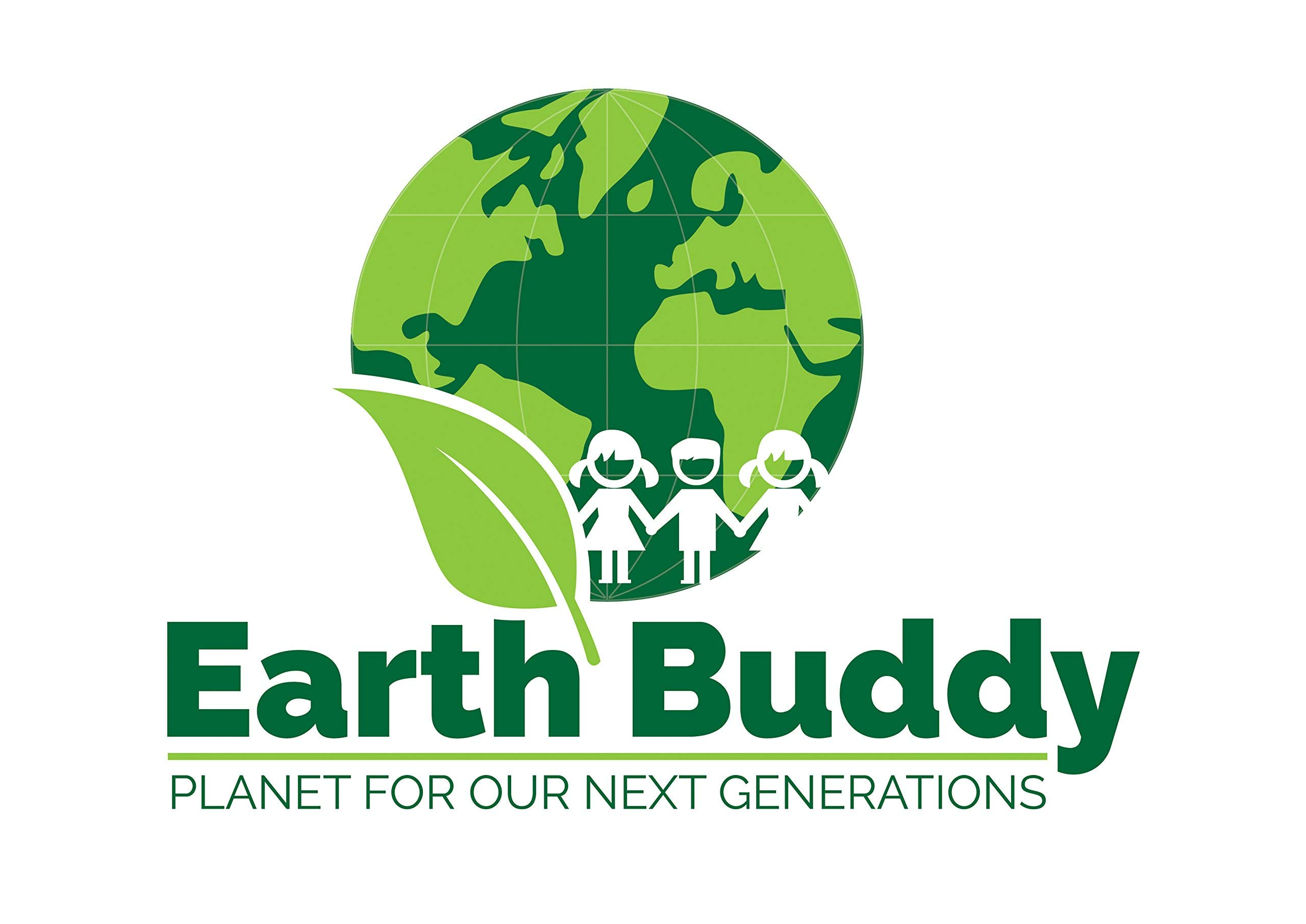 Earth Buddy 125 PCS Biodegradable White Paper Straw. Eco Friendly Drinking Straw for Juice, Smoothie, Fruit Drinks, Shakes that will last at least 24 hrs of use (White Paper Straw, 125)