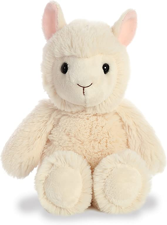 Soft Approx 6.5 Inches Tall Cute Fuzzy Friends Plush Tie Dye Llamas