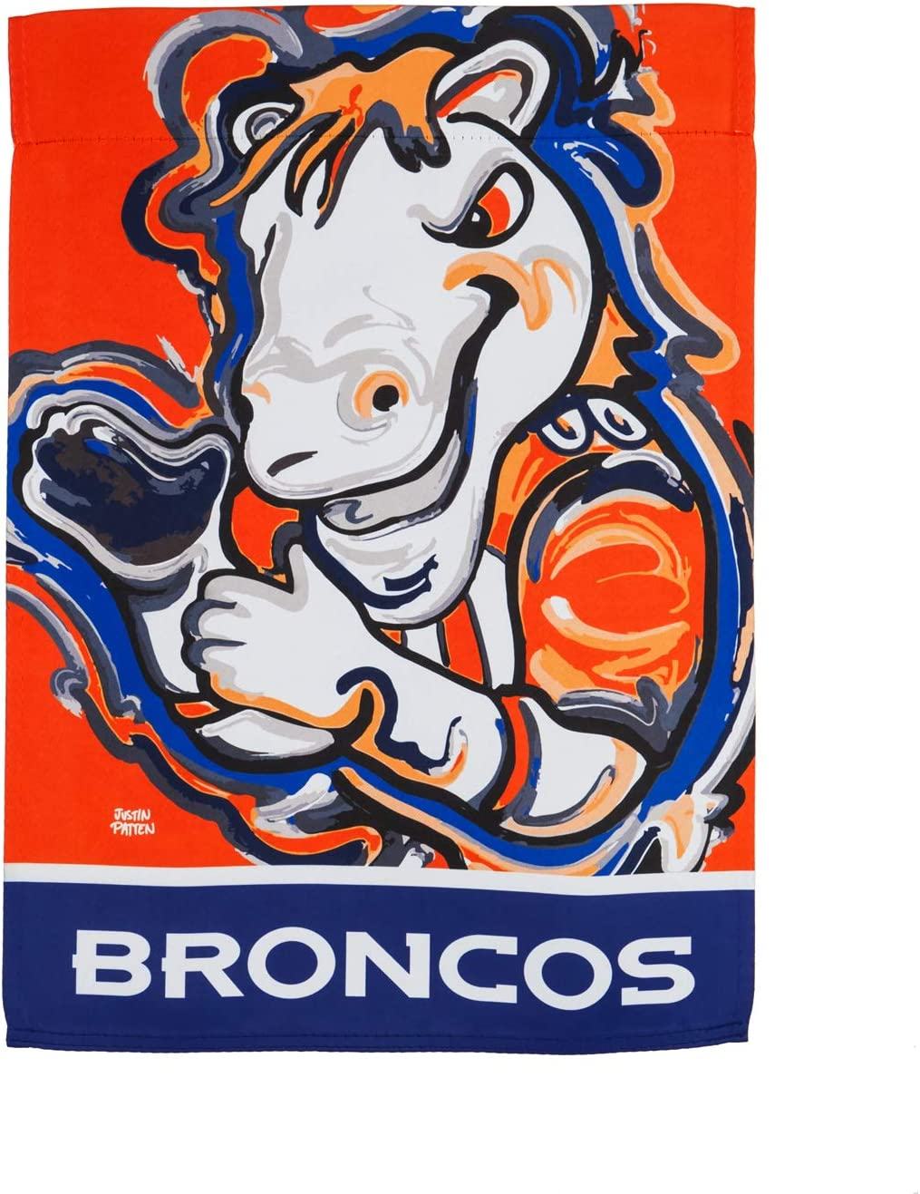 Team Sports America Denver Broncos Suede Garden Flag 12.5 x 18 Inches Justin Patten