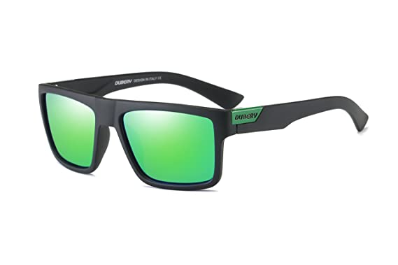6bf055a5cd DUBERY Mens Sport Polarized Sunglasses Outdoor Riding Square Windproof  Eyewear ( 5)