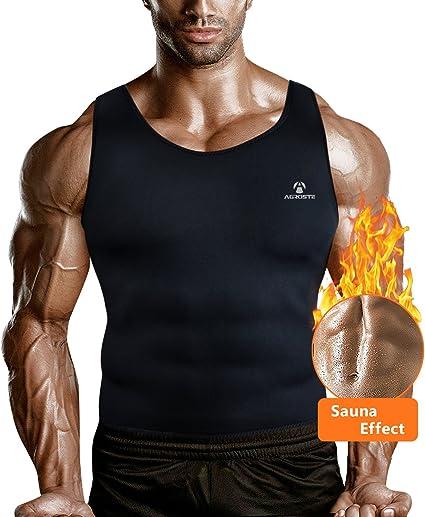 Men Cami Neoprene Vest Hot Sweat Shirt Body Shaper Waist Trainer Shapewear Gym