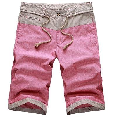 Casual Linen Cotton Shorts Summer Men Shorts Beach Pants Homme Board Shorts