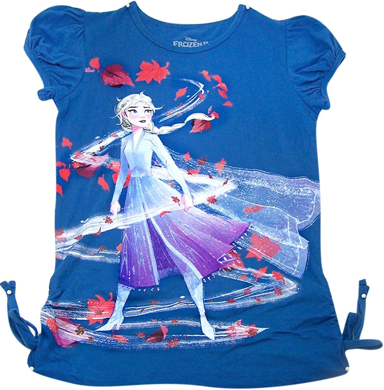 Details about  /Disney Frozen 2 T Shirt Tee Shirt Sisters For Ever BNWT Navy Blue