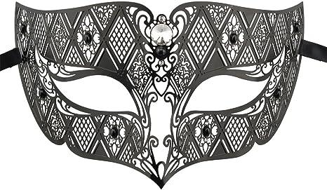 Crown Laser Cut Metal Women/'s Masquerade Mask Mardi Gras Mask