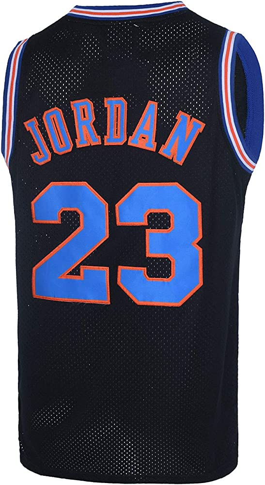 CAIYOO Youth 23# Space Moive Jersey Kids Basketball Jersey for Boys XS-XL Clothing for Party White/Black/Blue