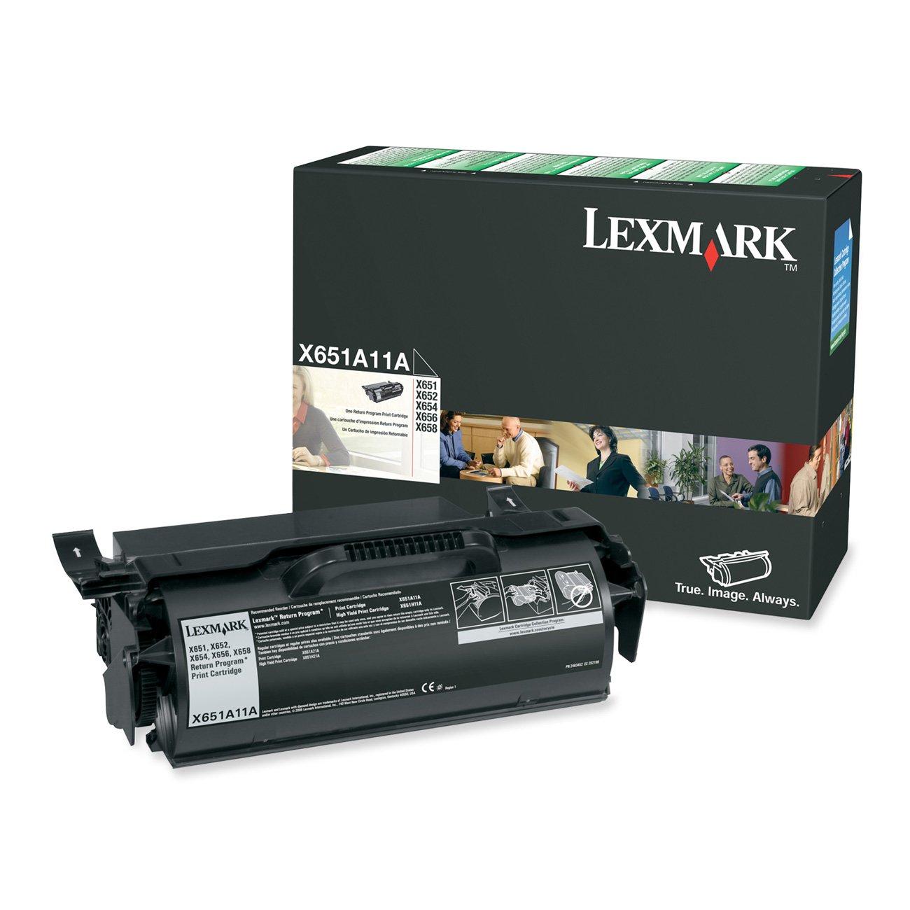 Lexmark X651A11A Toner Cartridge 7000 Page-Yield Black