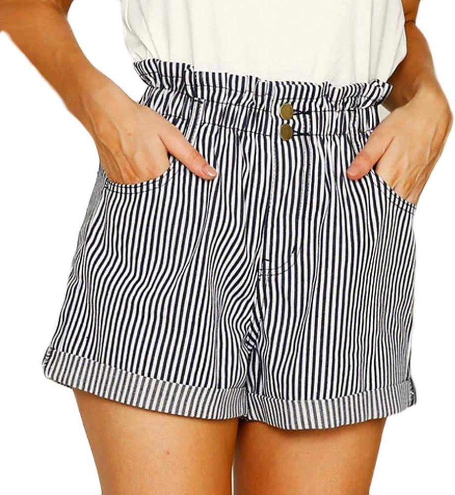 Gusspower Mujer Pantalones Cortos Verano Pantalón Chandal elástico ...