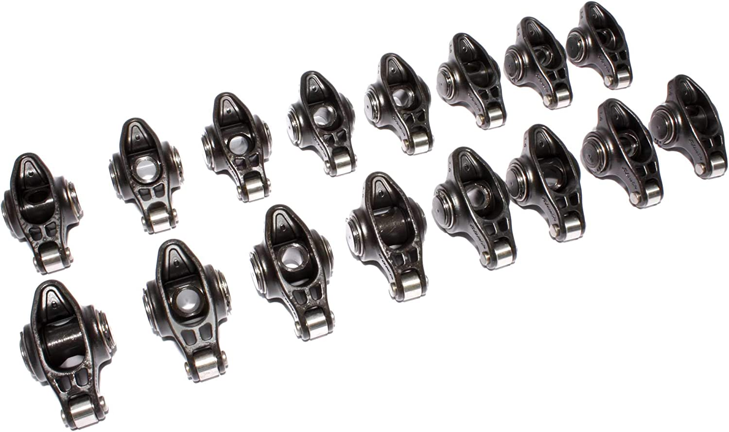 3//8 Stud Diameter Rocker Arm for Small Block Chevrolet Competition Cams 17002-16 High Energy Die Cast Aluminum Roller 1.6 Ratio