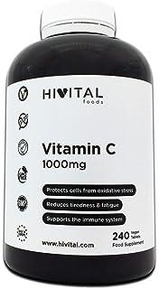 Vitamina C 1000 mg | 240 comprimidos (Suministro para 8 meses) | Reduce el cansancio y la fatiga, protege las células del…