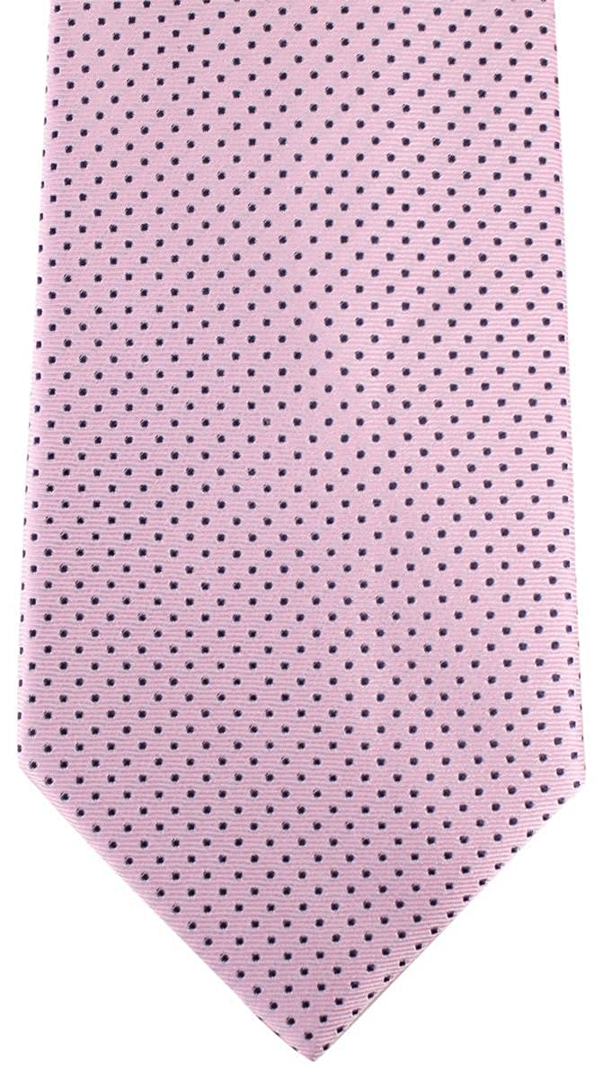 David Van Hagen Mens Pin Dot Tie Pink//Navy