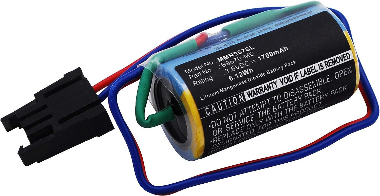 subtel® Batería Premium Compatible con Mitsubishi A1FXCPU, A Series PLCs, A1S Series PLC, A6BAT, A6BAT-MRBAT, B9670-MC 1700mAh bateria Repuesto Pila: Amazon.es ...