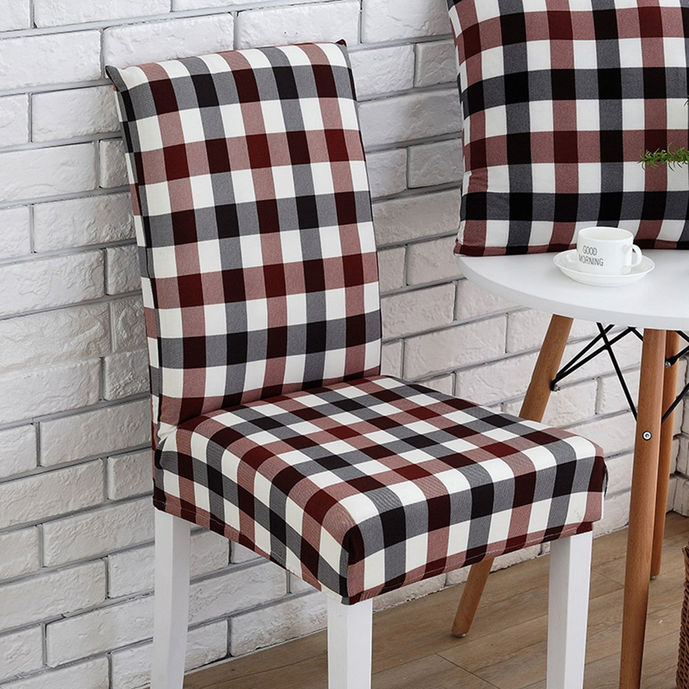 Awland Dining Chair Slipcovers Cover Seat Protector Short Stretch Spandex Dining Room Banquet Chair Seat Cover for Kitchen Bar Hotel Party (Style 1)