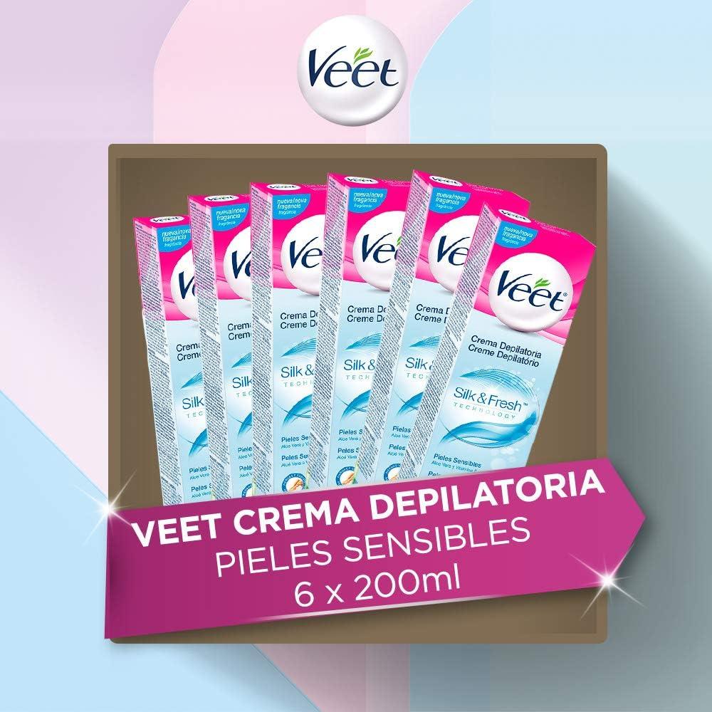 Veet Crema Depilatoria Corporal para Mujer con Aloe Vera y ...