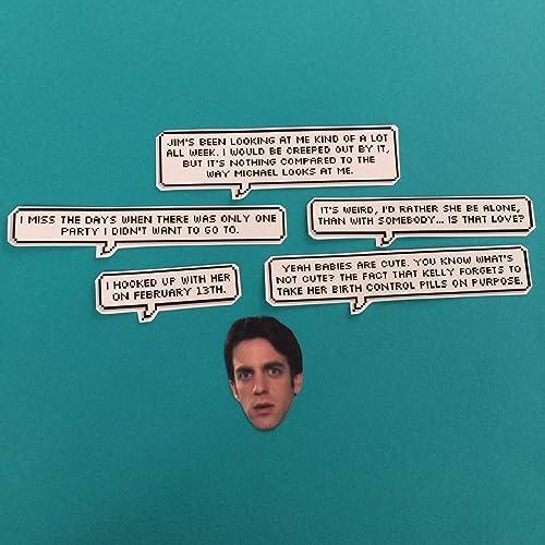 Amazon com: Ryan Howard The Office Quotes Sticker Set: Handmade