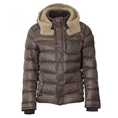 Handstich Herren Dauenjacke James 2 Taupe braun 54: Amazon