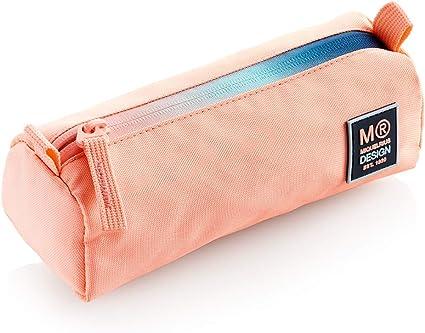 MIQUELRIUS - Estuche Grande Iris - Portatodo grande con Cremallera, Color Rosa: Amazon.es: Oficina y papelería
