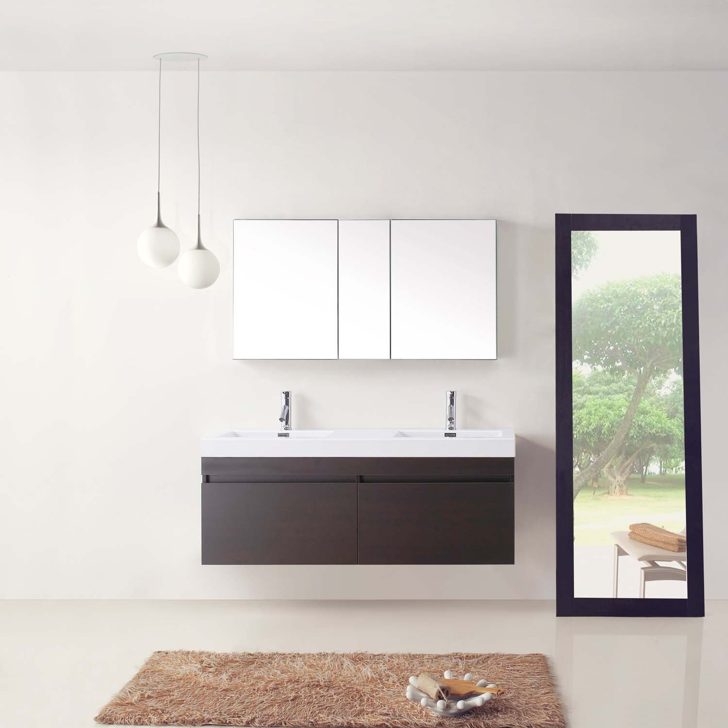 Virtu USA JD-50355-WG 55-Inch Zuri Double Sink Bathroom Vanity ...