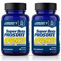 Super Beta Prostate Advanced Urologist Recommended Prostate Supplement for Men – Reduce Bathroom Trips & Support Healthy Prostate Function. Naturally Derived Ingredients (60 Caplets, 30 day Supply)