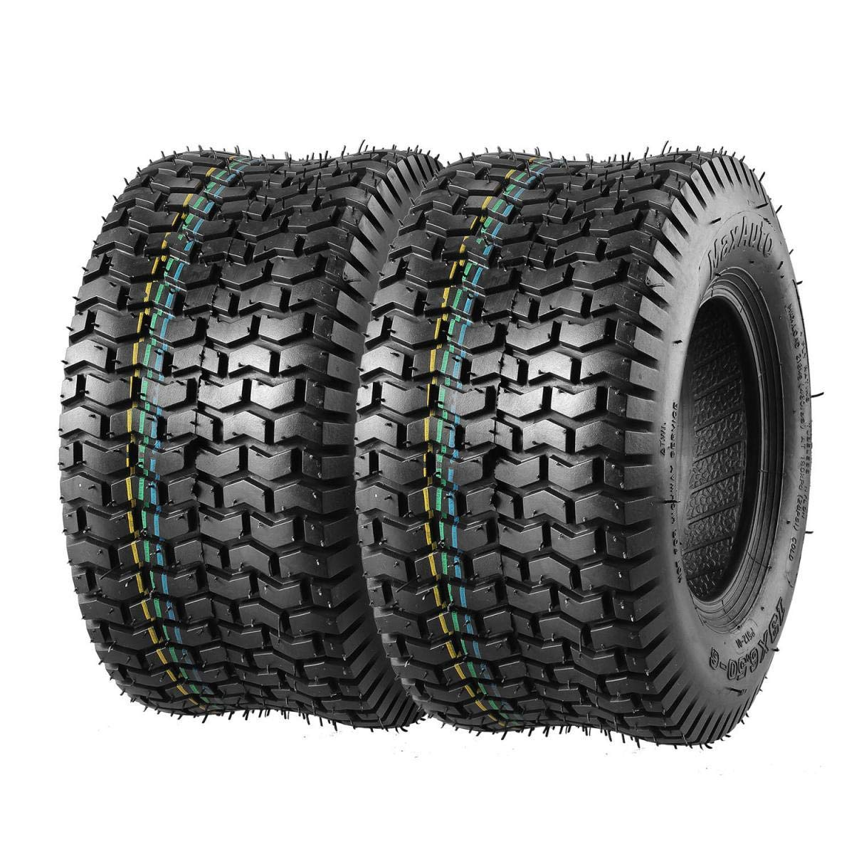 Set of 2 13x6.50-6 13x6.5x6 13/6.50-6 Turf Saver Tire Replacement for John Deere Craftsman Mower Lawn and Garden Tractor, 4PR, DOT Compliant by MaxAuto