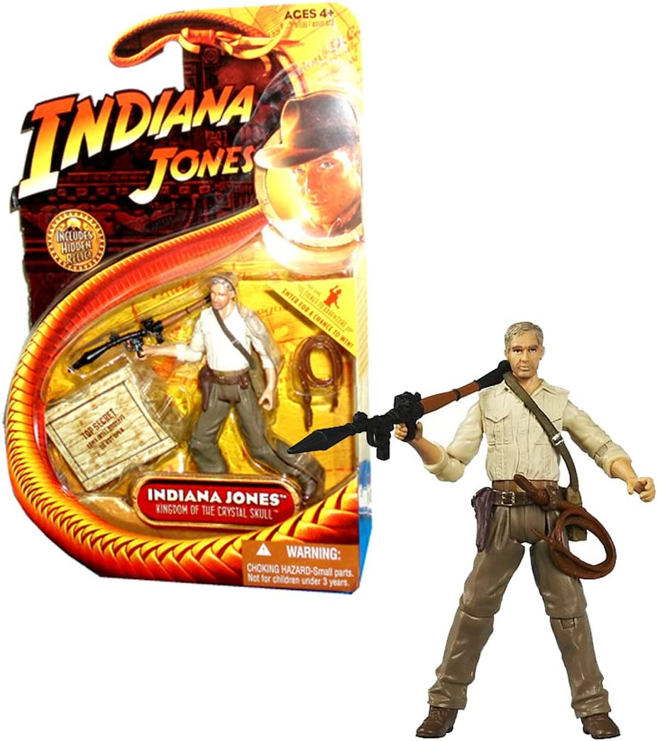 Kingdom of the Crystal Skull - Indiana Jones with Bazooka - 3-3/4 Inch Scale Action Figure: Amazon.es: Juguetes y juegos