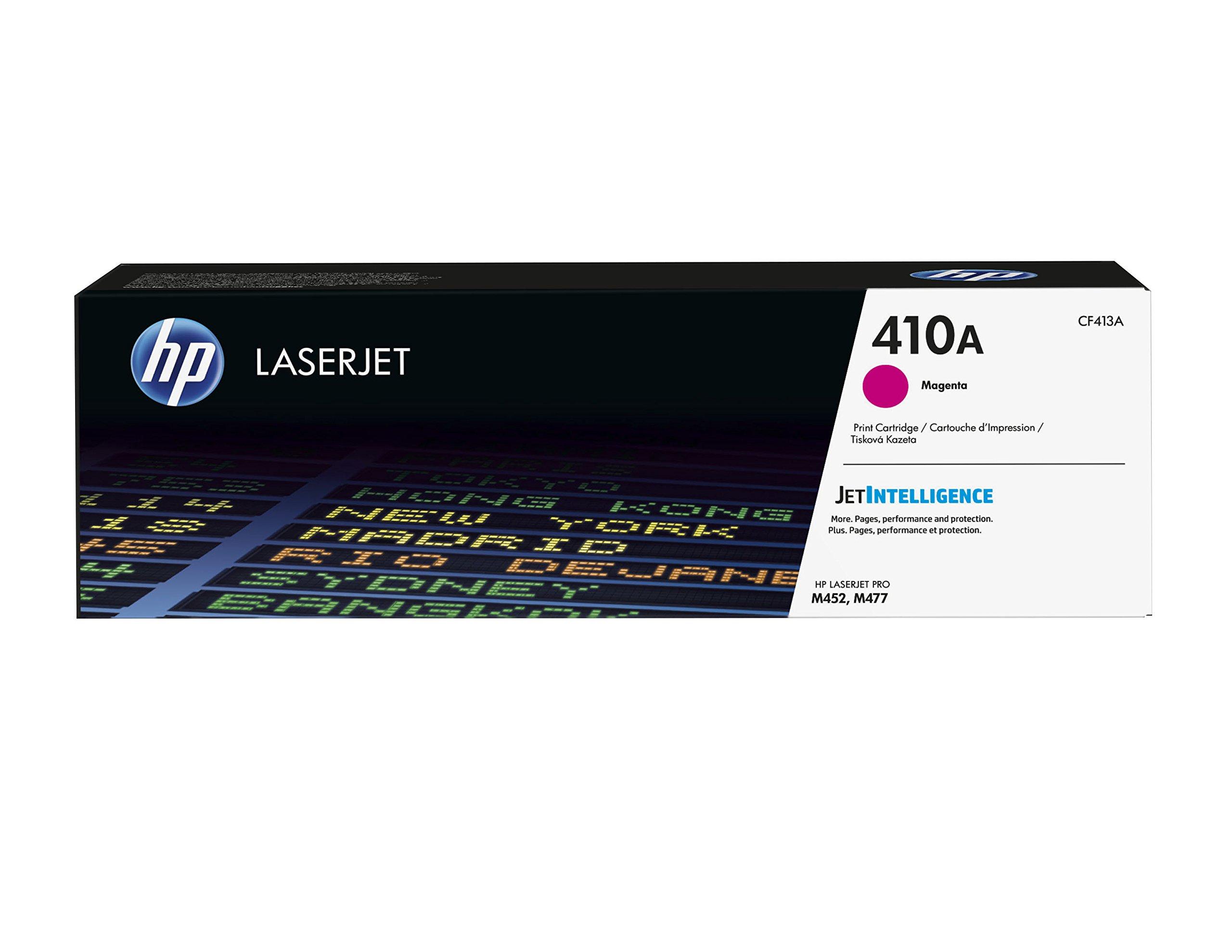 HP 410A (CF413A) Toner Cartridge, Magenta for HP Color LaserJet Pro M452dn, M452dw, M452nw, MFP M377dw, MFP M477fdn, MFP M477fdw, MFP M477fnw