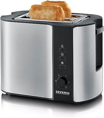 Severin 2-Schlitz  Toaster AT2514  Edelstahl Gehäuse Rösten Auftauen Aufwärmen