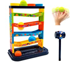 Euyecety Hammering Pounding Toys Pound A Ball Toy for Toddler, Durable Ball Drop Toy, Fine Motor Skills Educational Developme
