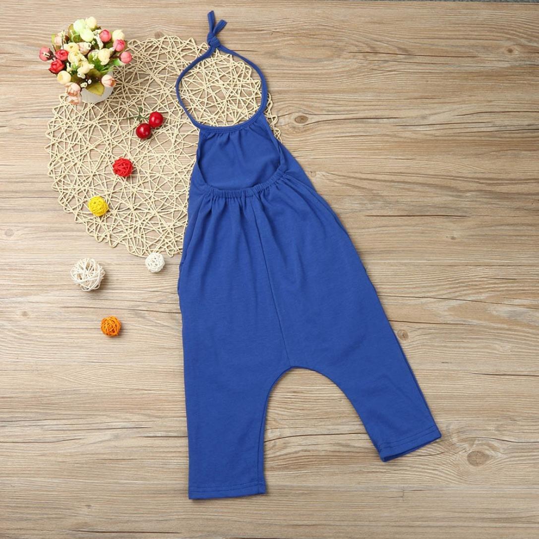 Igemy Kleinkind Kind Baby M/ädchen Riemen Spielanzug Jumpsuits Piece Hosen Kleidung