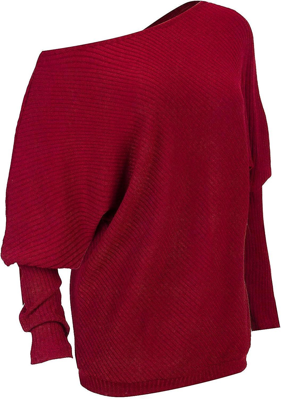 Jersey de punto para mujer con hombros descubiertos Hey~Yo