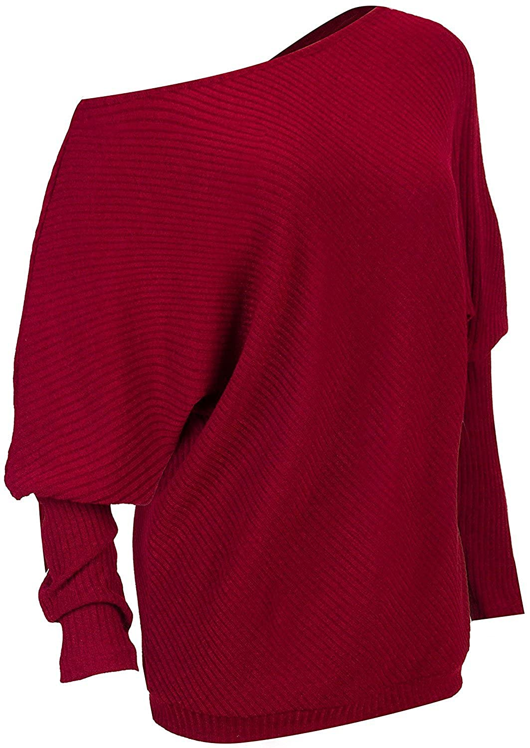 5b7a5462a Sexy Oblique Collar and Special Design Makes you the most charming girl in  Autumn and Winter This solid color sweater woven with a fine and  lightweightknit ...