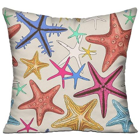 Jxrodekz Funda de cojín Decorativa con Forma de Estrella de ...