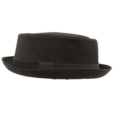 6eae4ed86390d Men s Everyday Cotton All Season Porkpie Boater Derby Fedora Sun Hat S M  Black