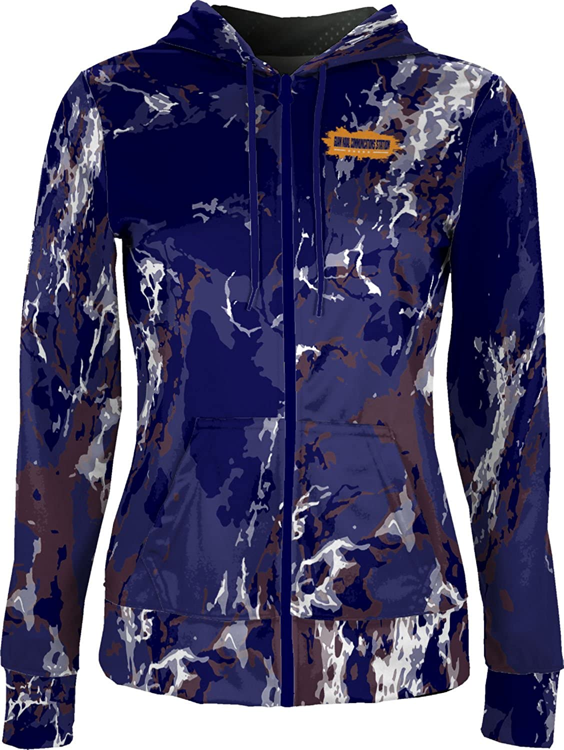 Women's Guam Naval Communications Station Military Marble Fullzip Hoodie