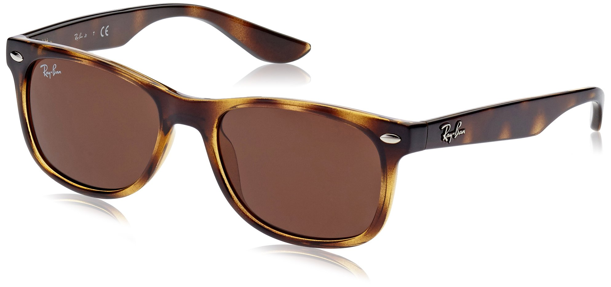 RAY-BAN JUNIOR Kids' RJ9052S New Wayfarer Kids Sunglasses, Havana/Brown, 48 mm by RAY-BAN JUNIOR