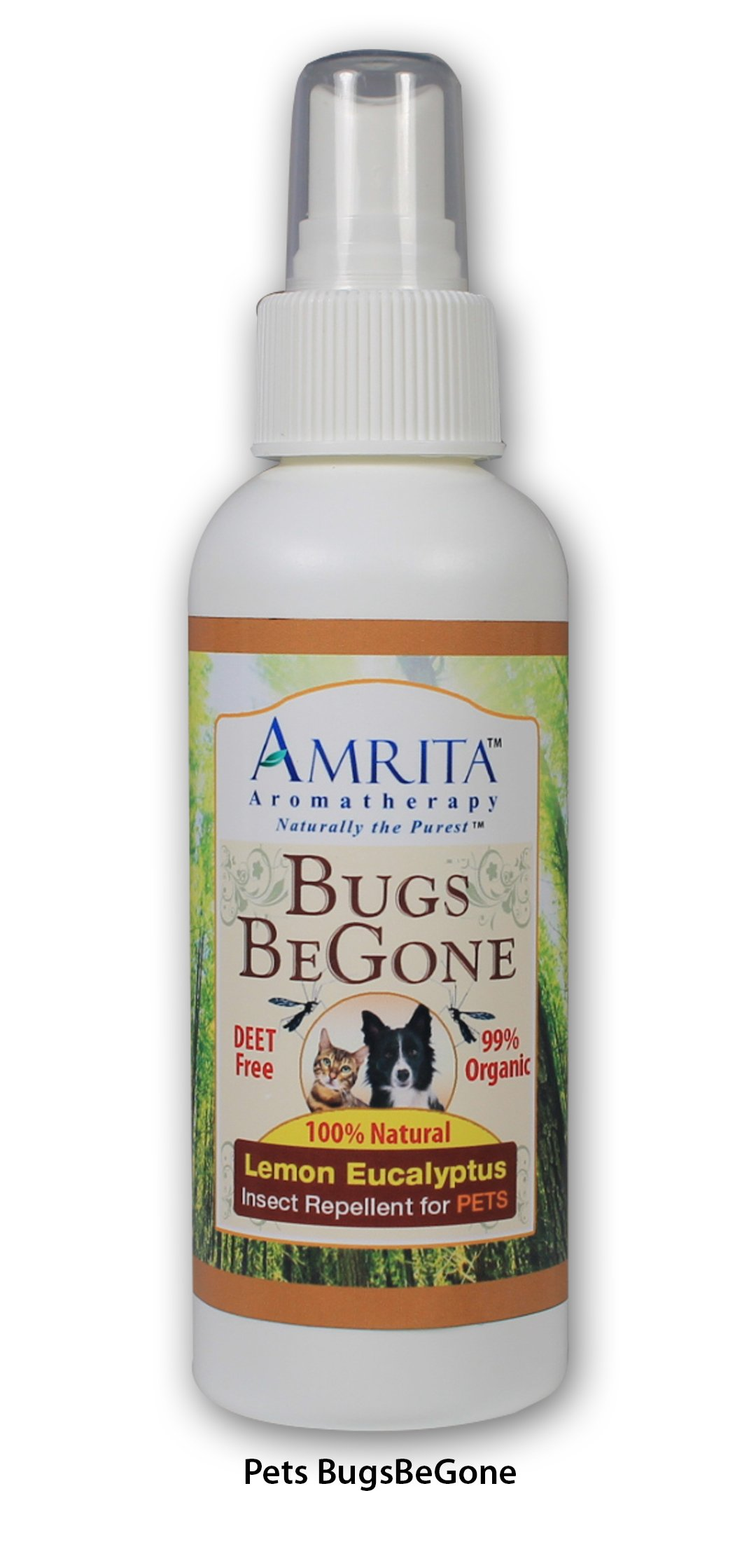 Bugs BeGone ( Insect Repellent) for PETS - Mosquitoes, Fleas, Ticks & Chiggers - 100% Natural Essential Oil Blend - DEET-Free - (SIZE: 4oz)