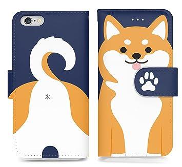 Amazon 手帳型 Iphone 7 用 アイフォン 柴犬 変身 可愛い アニマル