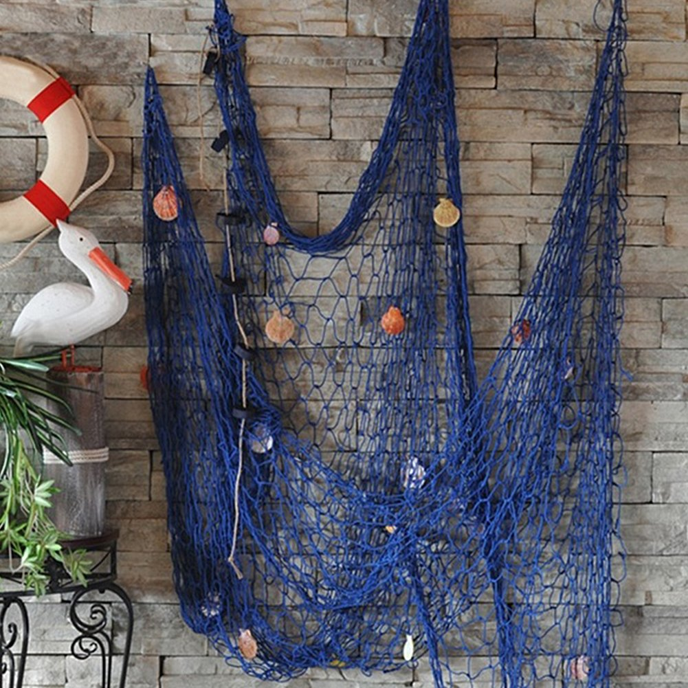 Wall of Dragon 2018 NEW Personality Nautical Style Home Decoration 2M x 1M Fishing Net DIY Seaside Beach Shell Party Door Wall Decoration