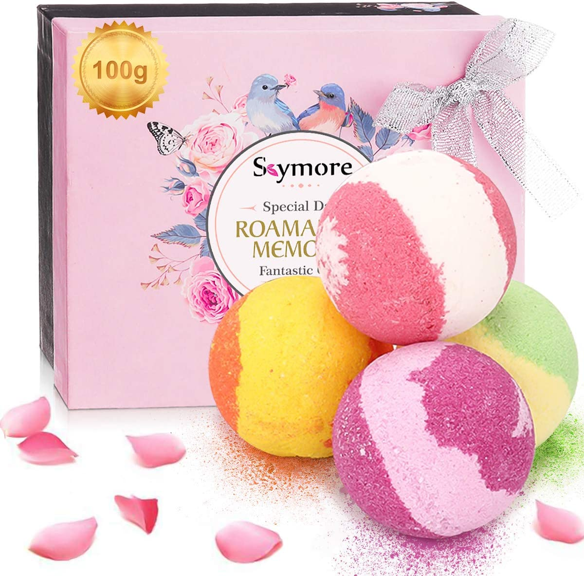 Essential Oils Kit, 4x10ML Pure Essential Oil and 4 Bath Balls Gift Set WAS £15.99 NOW £7.99 w/code Skymore923W @ Amazon