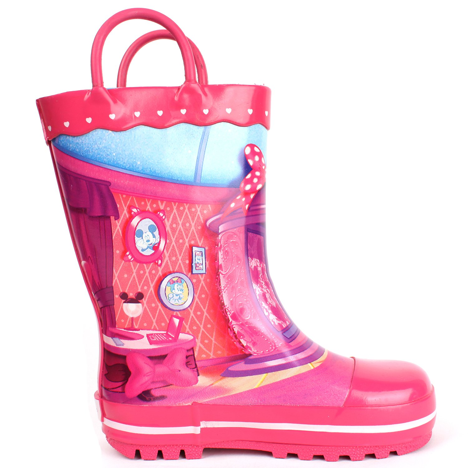 Parallel Import//Generic Product Joah Store Minnie Mouse Dot Ribbon Pink Rain Boot
