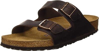 Birkenstock Men's Arizona SFB Oiled Leather Regular Fit Sandal Habana Habana 8