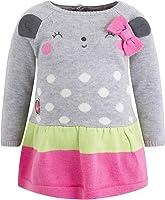 Vestido Tricot Osito NIÑA Gris Baby Blogger
