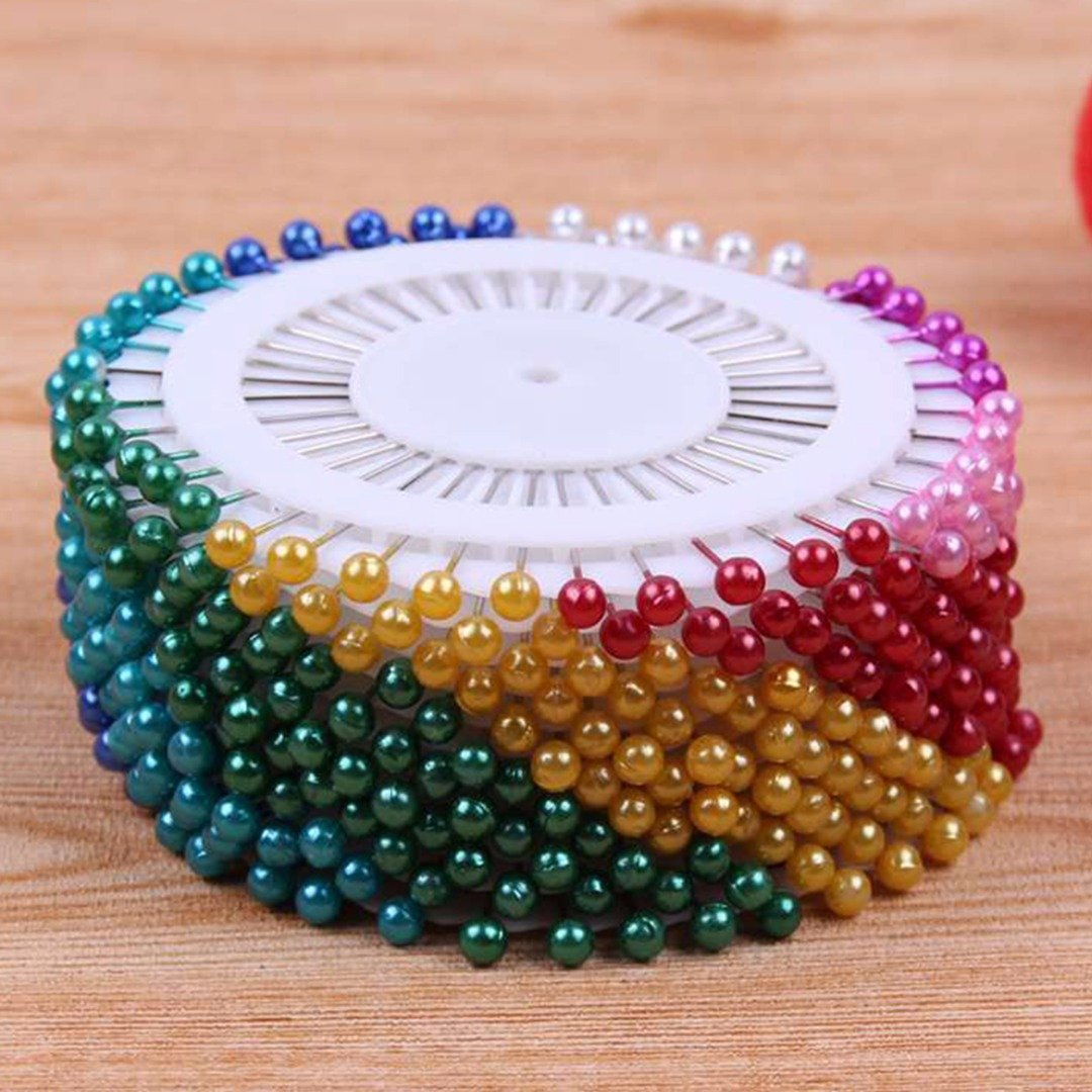 240 PCS Dressmaking Pins Coloured Heads Pearl Head Straight Sewing Needle Pins for Dressmaking Jewelry Components Flower Decoration Wedding Craft Dress Making Patchwork(Mix color) NaroFace