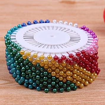 100x Dress Wedding Craft Pearl Round Head Straight Sewing Needle Pins CorsageFE