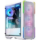 BitFenix Enso Mesh RGB Midi Tower - Estuche para PC - Vidrio Templado - Blanco