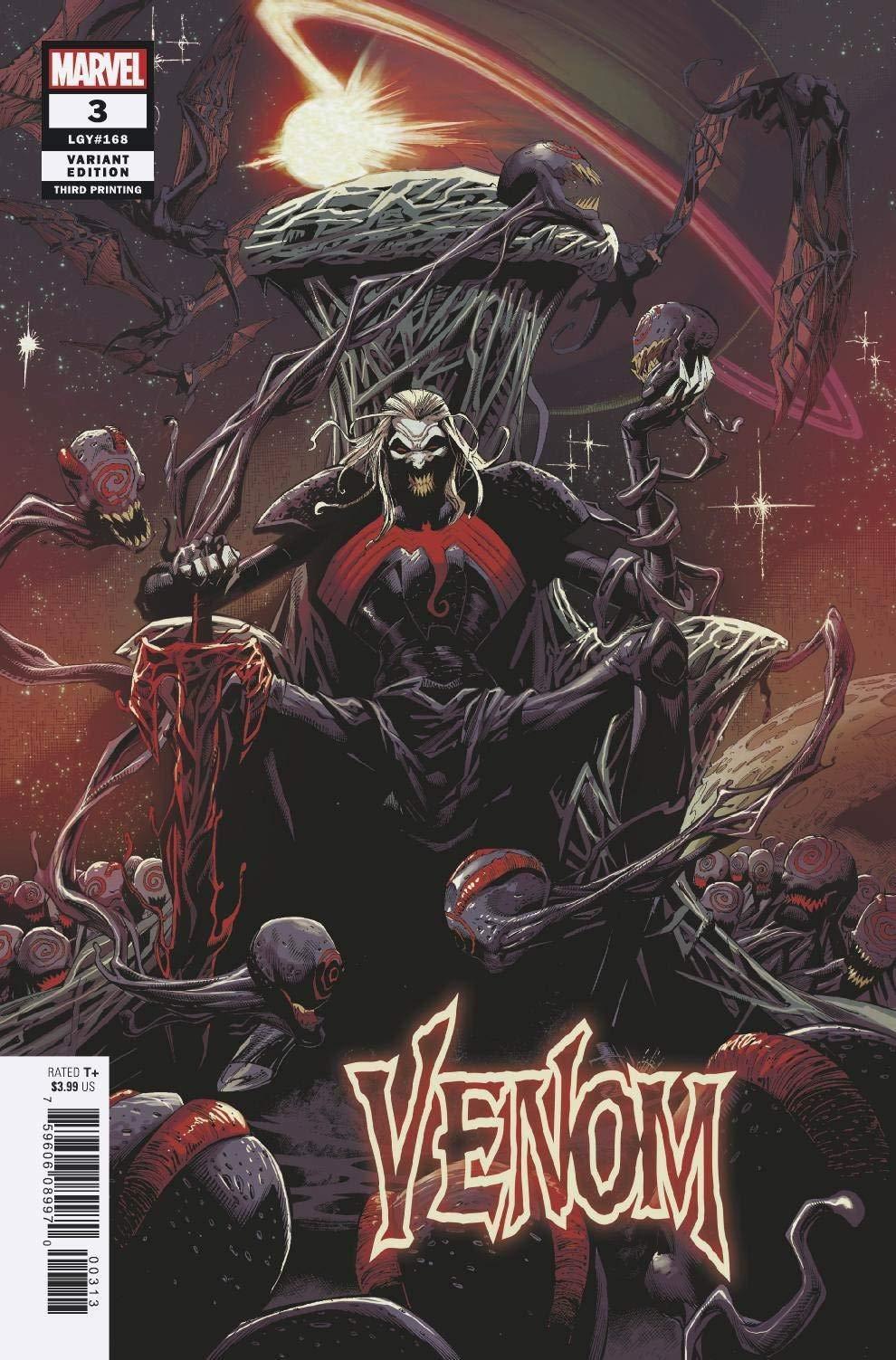 Venom #3 Marvel 2018 Series 4th Print Variant 1st app Knull 9.6 Near Mint+