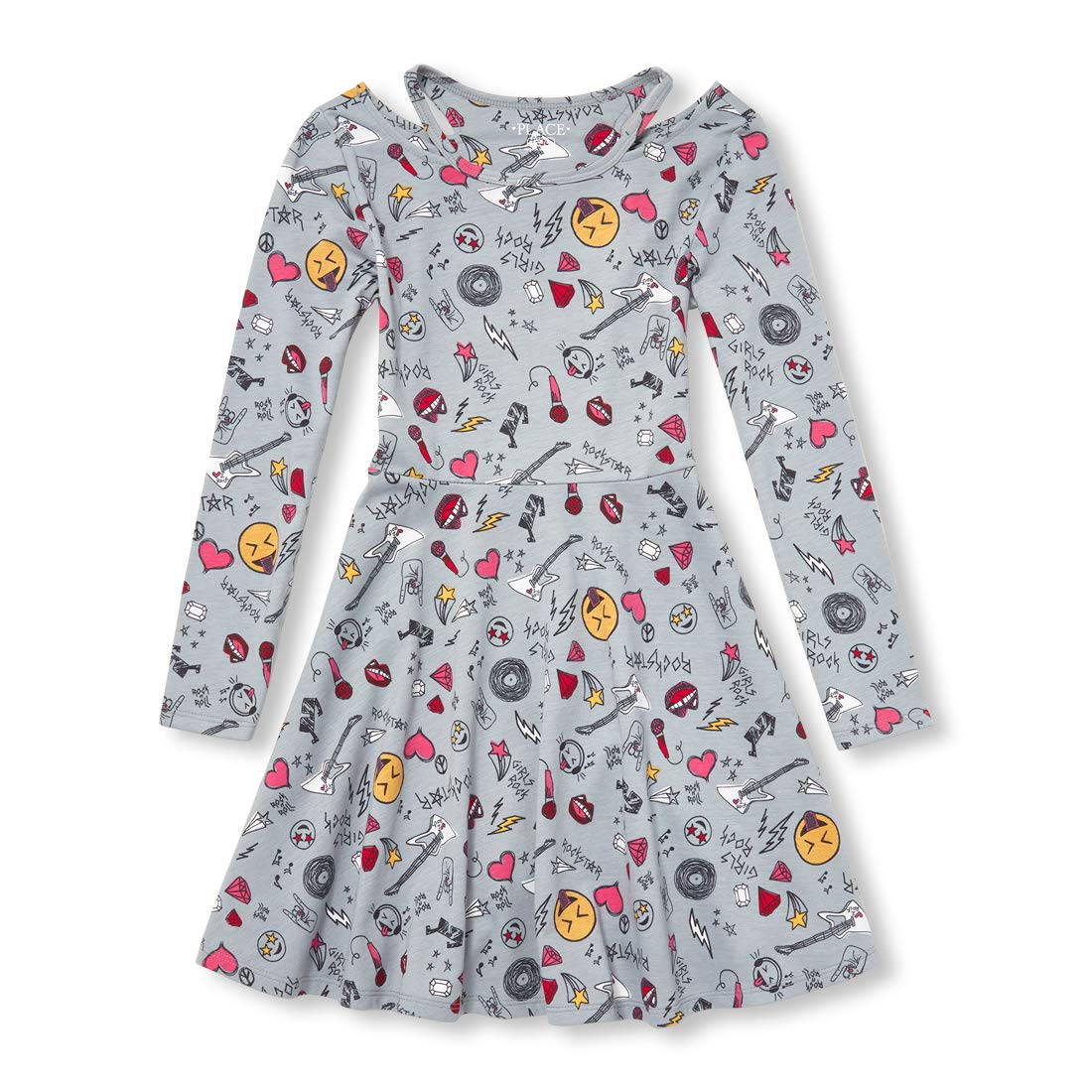 The Childrens Place Big Girls Long Sleeve Pleated Dress